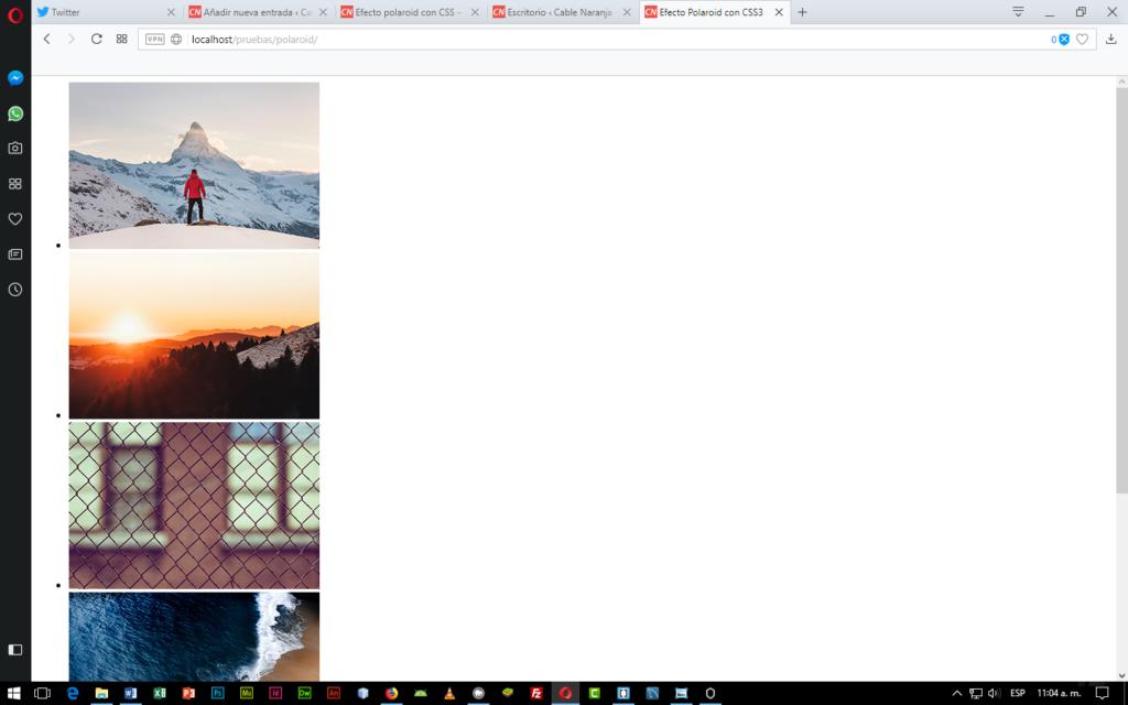 Efecto Polaroid con CSS3 en CableNaranja