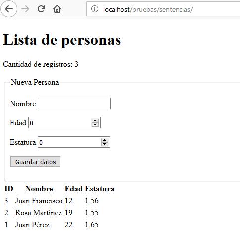 Sentencias Preparadas en PHP y MySQL, en CableNaranja