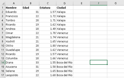 Ordenar datos en Excel con más columnas - CableNaranja