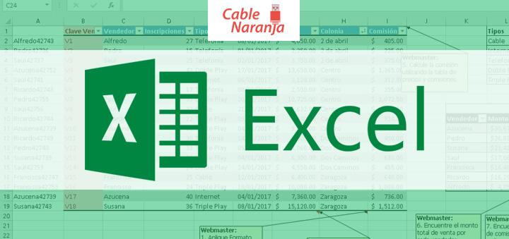Portada Excel Articulos CableNaranja