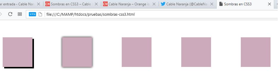 Sombras en CSS3, CableNaranja