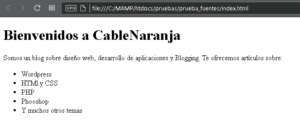 Fuentes en CSS con Font-Face, CableNaranja