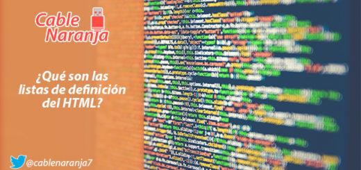 ¿Qué son las listas de definición del HTML? - CableNaranja