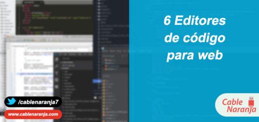 6 Editores de código para web - CableNaranja