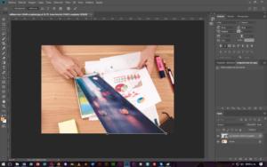 Deformación de Perspectiva en Photoshop, CableNaranja