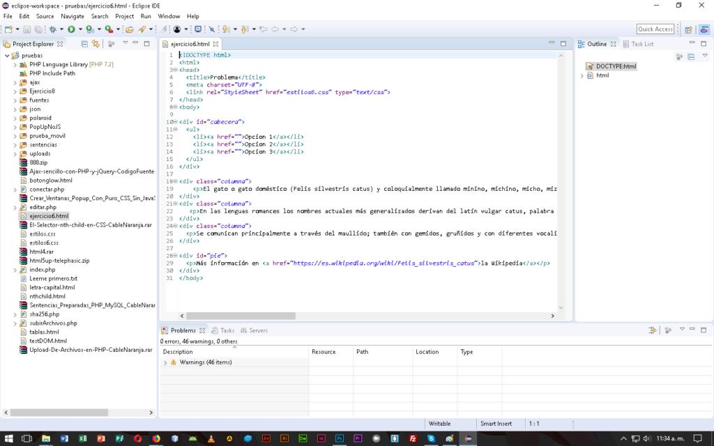 Eclipse IDE en CableNaranja