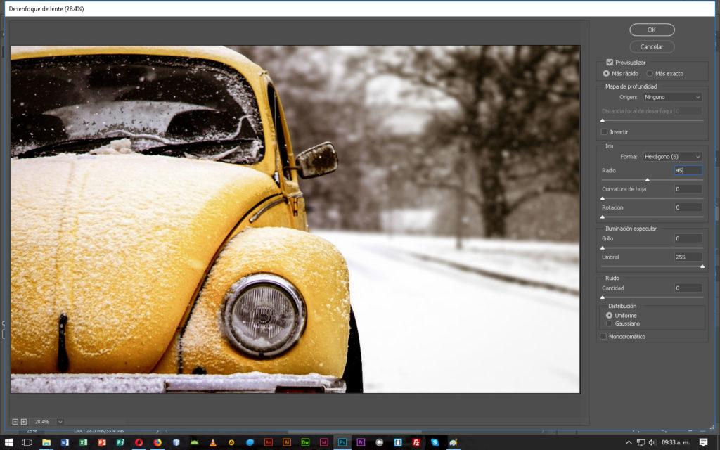 Desenfoque de lente en Photoshop - CableNaranja