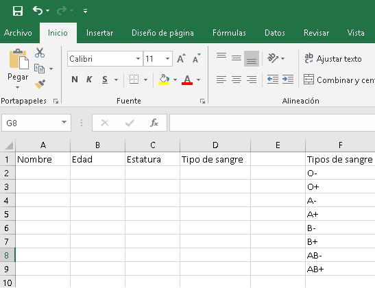 Validación de datos en Excel, CableNaranja