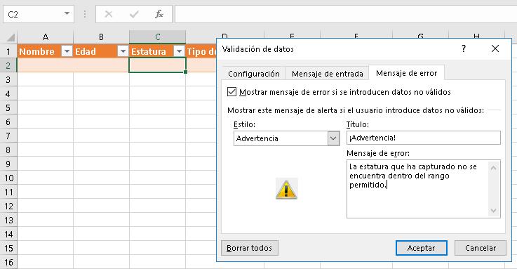 Validacion de datos Excel CableNaranja16