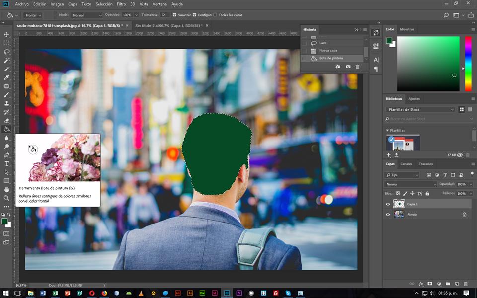 Cambiar color de objetos en fotografía desde Facebook, CableNaranja