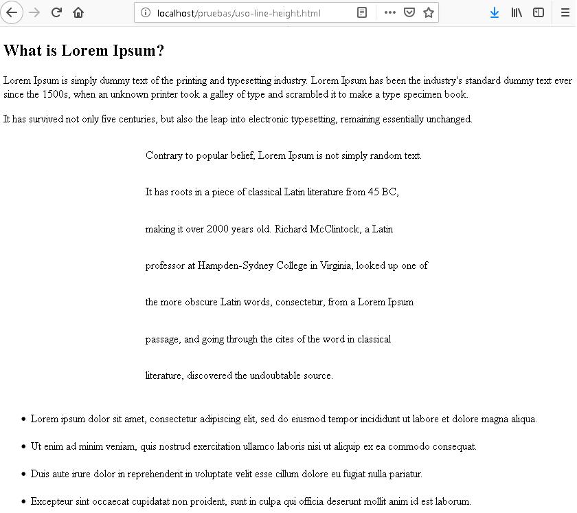Uso de la propiedad line-height en CSS, CableNaranja
