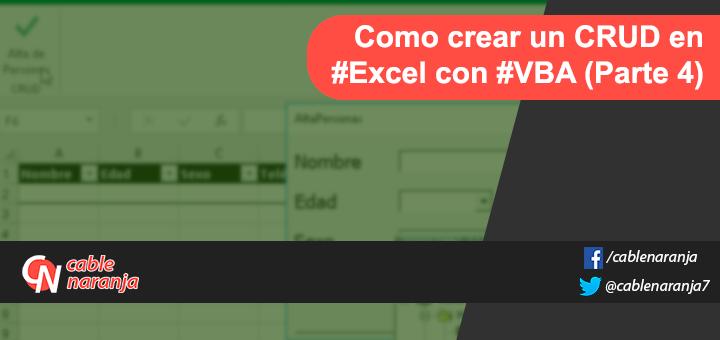 Comon Crear CRUD en Excel con VBA - CableNaranja