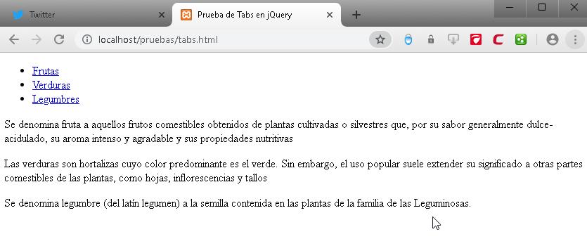 Como crear pestañas o tabs en JavaScript con jQuery - CableNaranja