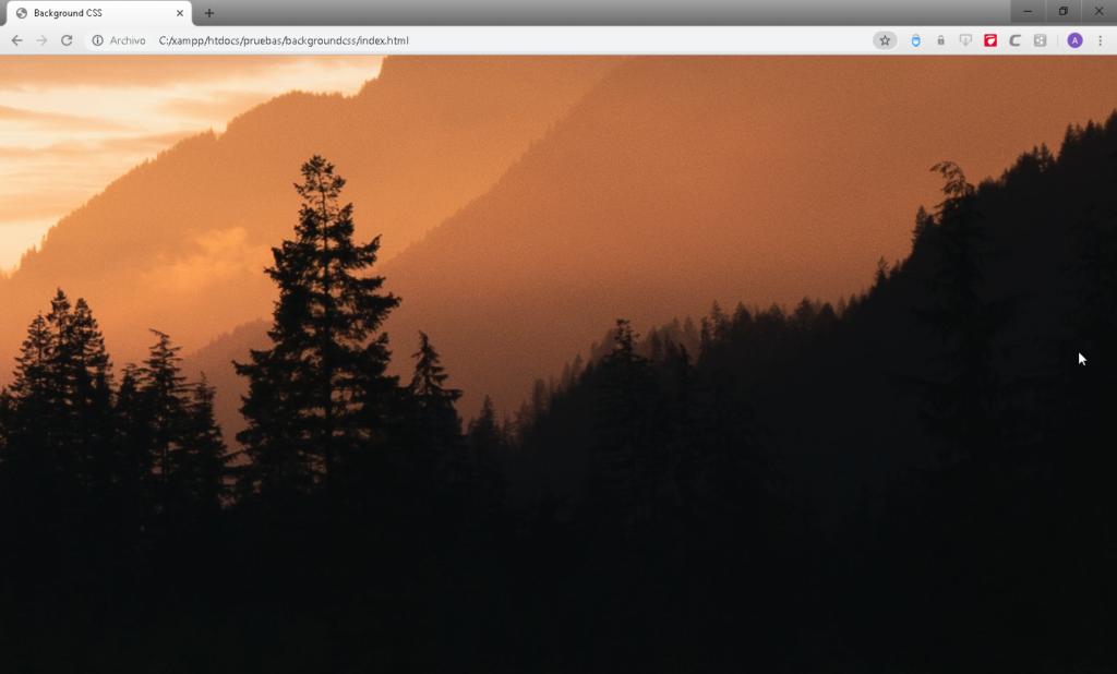 Como colocar imágenes de fondo con CSS - CableNaranja