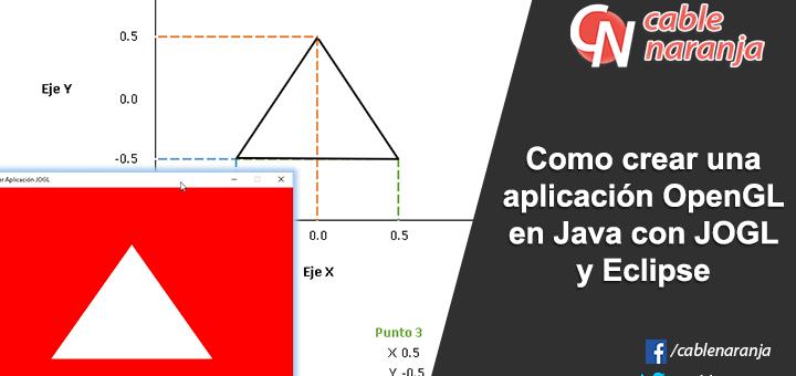 Como crear una aplicación OpenGL en Java con JOGL y Eclipse - CableNaranja