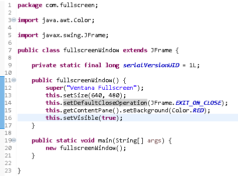 Como hacer fullscreen en una aplicación #Java - CableNaranja