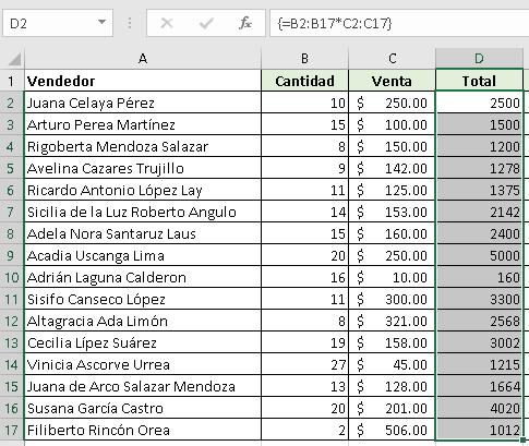Creando fórmulas matriciales en Excel - CableNaranja