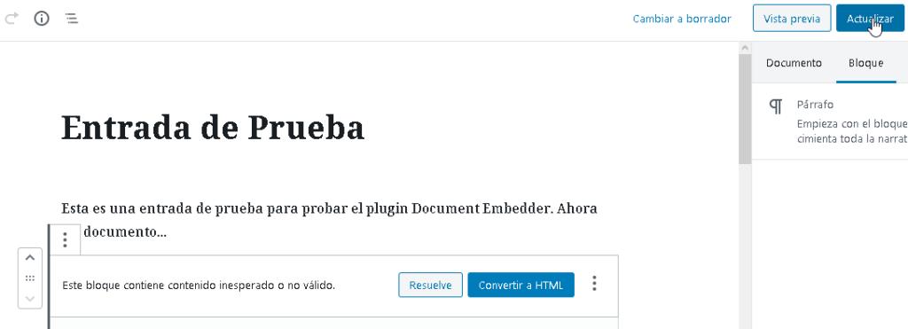 Como Incrustar Archivos En Wordpress Con Plugin Document Embedder CableNaranja23