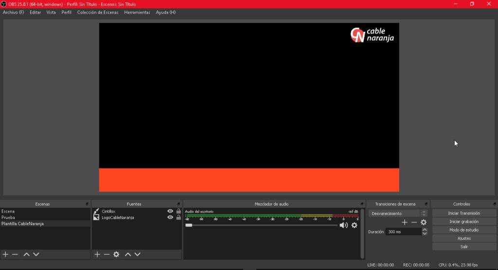 Aprende a preparar un template para tus videos o livestreams en OBS - CableNaranja
