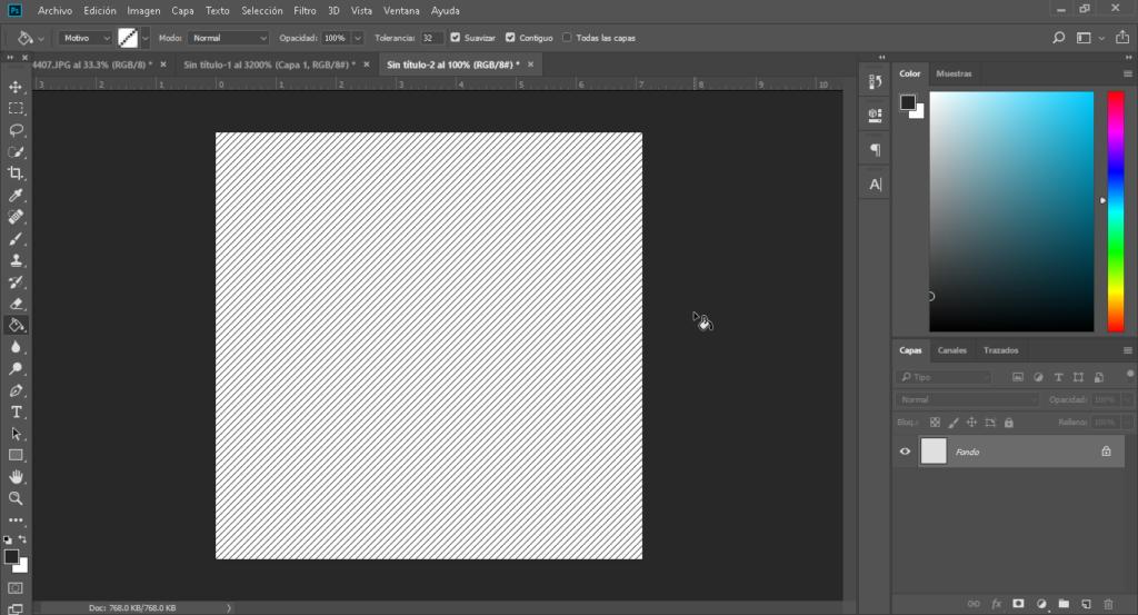 Como Crear Un Background Con Patron de Rayas Photoshop 14 CableNaranja 1