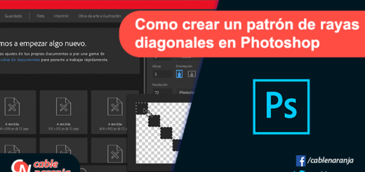Como Crear Un Background Con Patrón de Rayas en Photoshop - CableNaranja