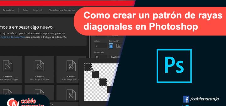 Como Crear Un Background Con Patrón de Rayas en Photoshop - CableNaranja