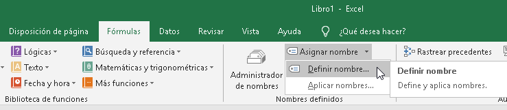 Manejo de nombres personalizados en Excel - CableNaranja